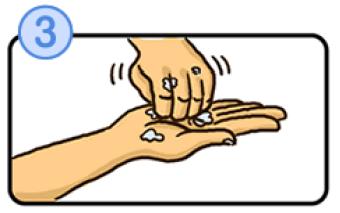 指先と爪を洗うイラスト